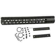"Funpowerland Tactical AR10 308 15"" Inch KeyMod Handugard Ultra Slim Free Float Handguard Mount Rail Steel Barrel Nut"