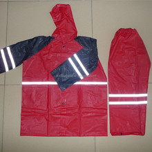 emergency waterproof pvc red disposable rain suit