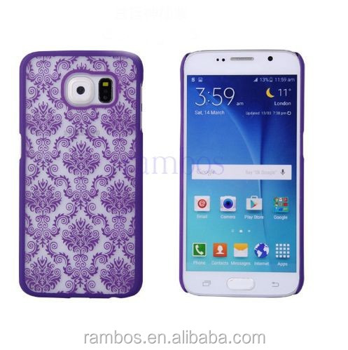 Protective Hard Slim Phone Case Cover Damask Vintage Floral Pattern Case for Samsung Galaxy S6 Edge G925