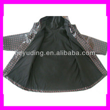 PVC coated children warm rain gear for winter