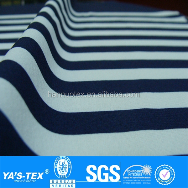 Navy White Stripe custom design print fabric,blue and white stripe fabric,black and white stripe fabric