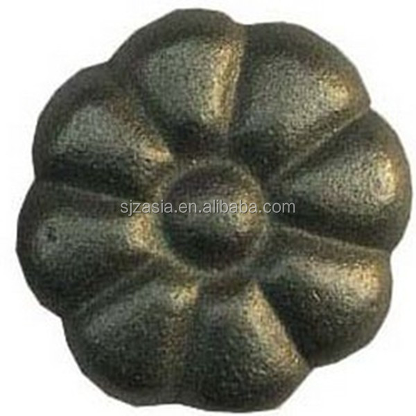ornamental wrought iron rose flower/rosettes for Garden Fencing