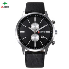Wholesale North brands Auto Date japanese quartz stainless steel back taobao business wrist watch