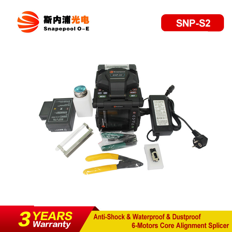 6 Motors Core Alignment Multifunction FTTH Fiber Optic Splicing Machine Equal to Fitel Fusion Splicer