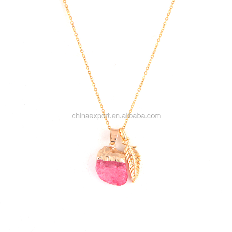 New Fashion Gold Palted Wing Pendant Necklace For Women Jewellery