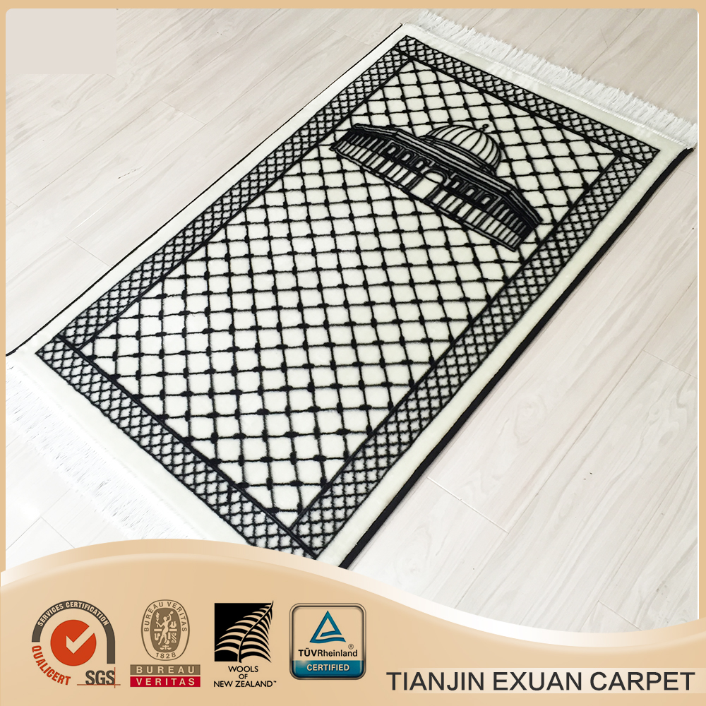 beautiful and soft islamic cheap prayer mat to colour