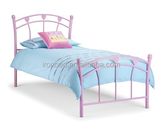 High quality cheap sweet dream metal kids bed
