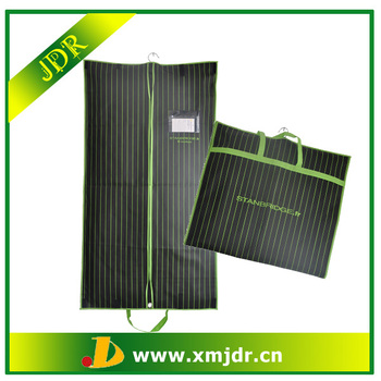 Fabric Garment Bag with stripes printing