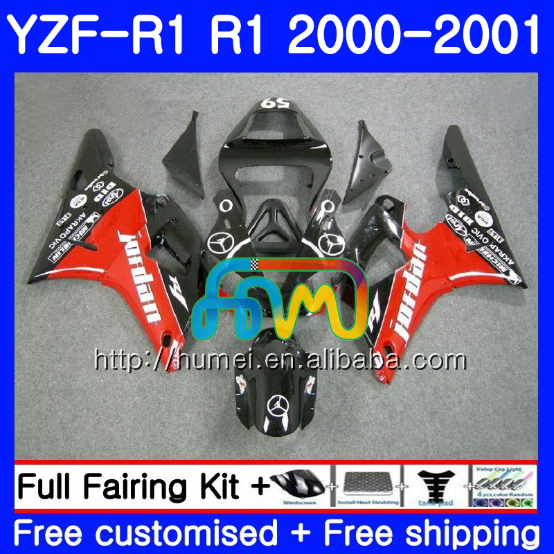 Bodywork For YAMAHA YZF red black 1000 YZF-<strong>R1</strong> 2000 2001 Body 98HM31 YZF1000 YZF R 1 YZFR1 <strong>00</strong> 01 YZF-1000 YZF <strong>R1</strong> <strong>00</strong> 01 Fairing