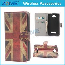 China Supplier For Alcatel Cone Touch Pop C7 National Flag Folio Pu Leather Case And Smart Cover With Flip Stand