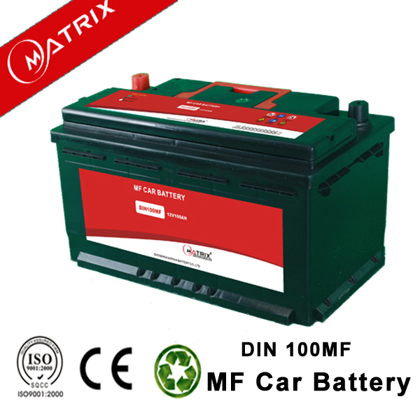 2016 DIN 12v 100ah global car battery