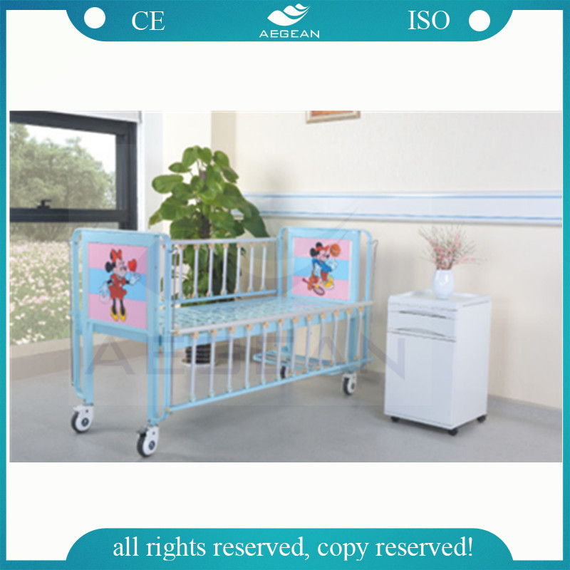 AG-CB003 CE ISO children used flat manual medical hospital adjustable bed