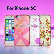 for iphone 5C case, bumper case for iphone 5C, pink style cell phone case
