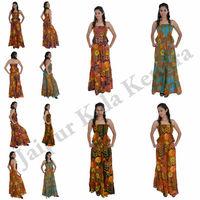 New Stylish Women Cotton Floral Printed Jumpsuit Ladies Evening Dress Wear