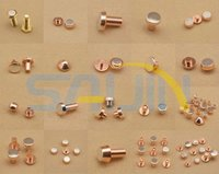 AgCdo/cu FAg/Cu AgNi/Cu ROHS APPROVED Rivet-type contacts(Bimetal Rivets)