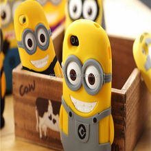 New Coming!! Minions Case For Apple iPhone 5 Soft Silicon Cover / For iPhone 5S Minions Phone Case / Cute Case For iPhone 5 5S