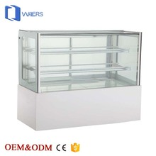 High quality commercial marble refrigerated bakery cake display cases