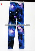 ladies hot sale korea design sexy nightclub galaxy leggings,space cosmic tights,blue leggings