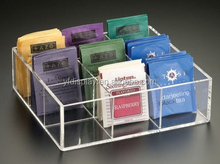 Custom high transparent clear tex bag box holder