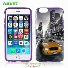 Water printing PC silicone combo hard case for iphone6,water transfer printing for apple phone,