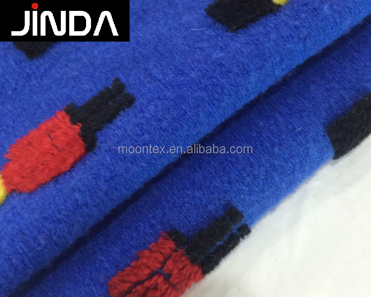 100% wool knitted jacquard wholesale for clothes fabric