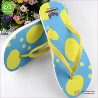 China ladies footwear wholesale new fashion heat transfer slippers