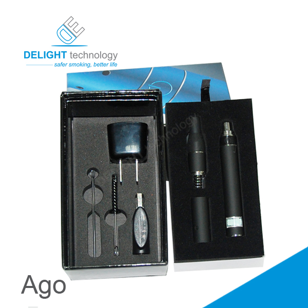 Hot selling ago dry herb/wax vaporizer ago g5 pen style electronic cigarette ago g5 vaporizer review
