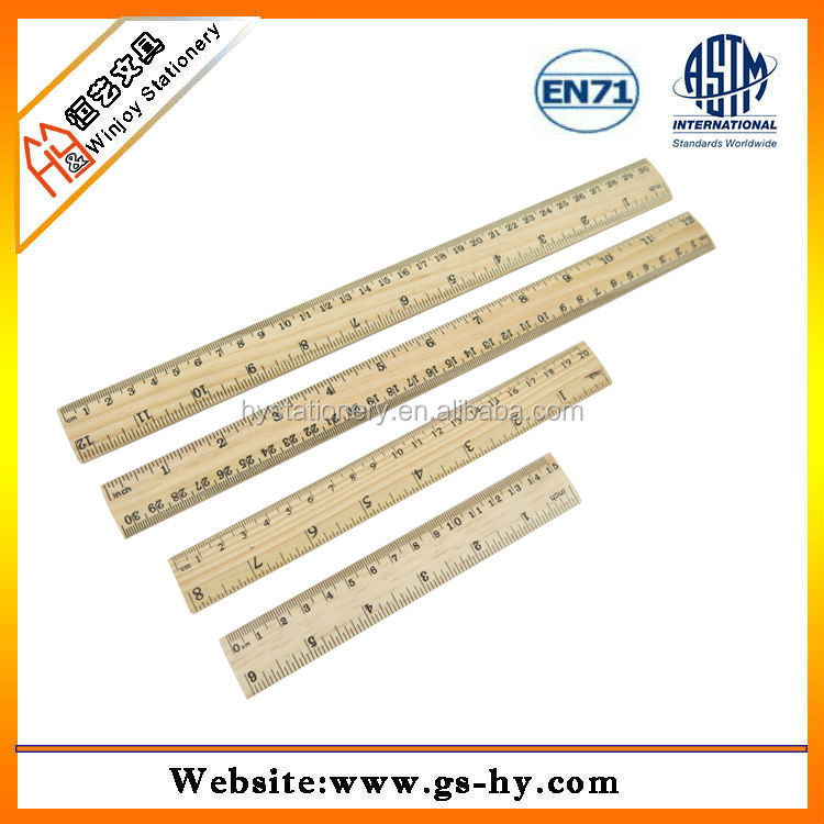 China factory supply kinds of woodsmith ruler with customized printing