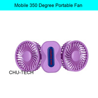 Mobile 350 Degree Portable Fan USB air conditioner Folding Rechargeable Charging Summer Small Cooling double Mini Fan