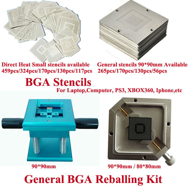 High quality BGA reballing stencils Direct heating small stencils and 90*90mm BGA stencils Avaliable