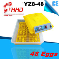 48 eggs CE Certificate High Hatching Full egg incubator spare parts for sale