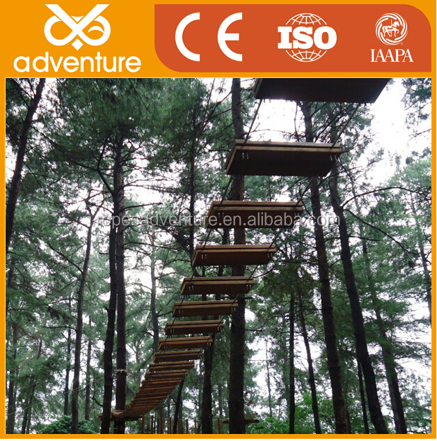 Outdoor amusement adventure rope course , China products forest Adventure equipment , obstacle climbing couse