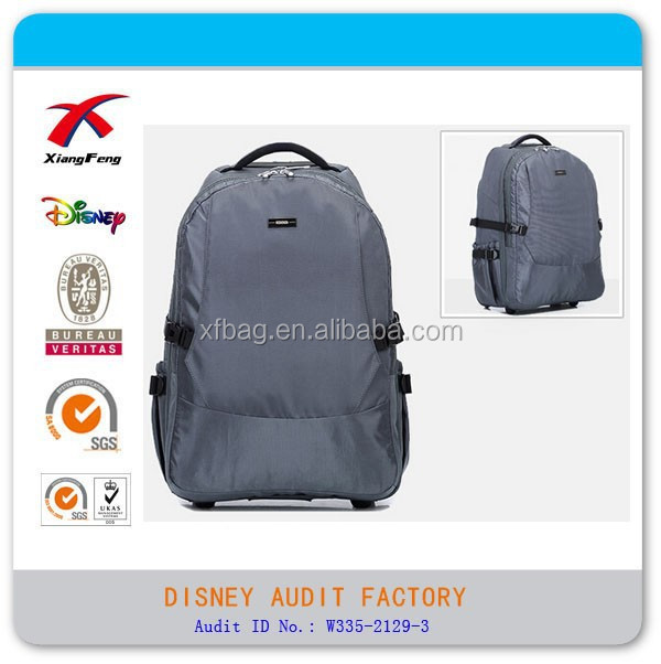 New Style Detachable Trolly Travel Backpack, Waterproof Nylon Backpack Bag