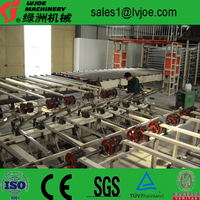 Water isolation exterior gypsum board wall partition production line