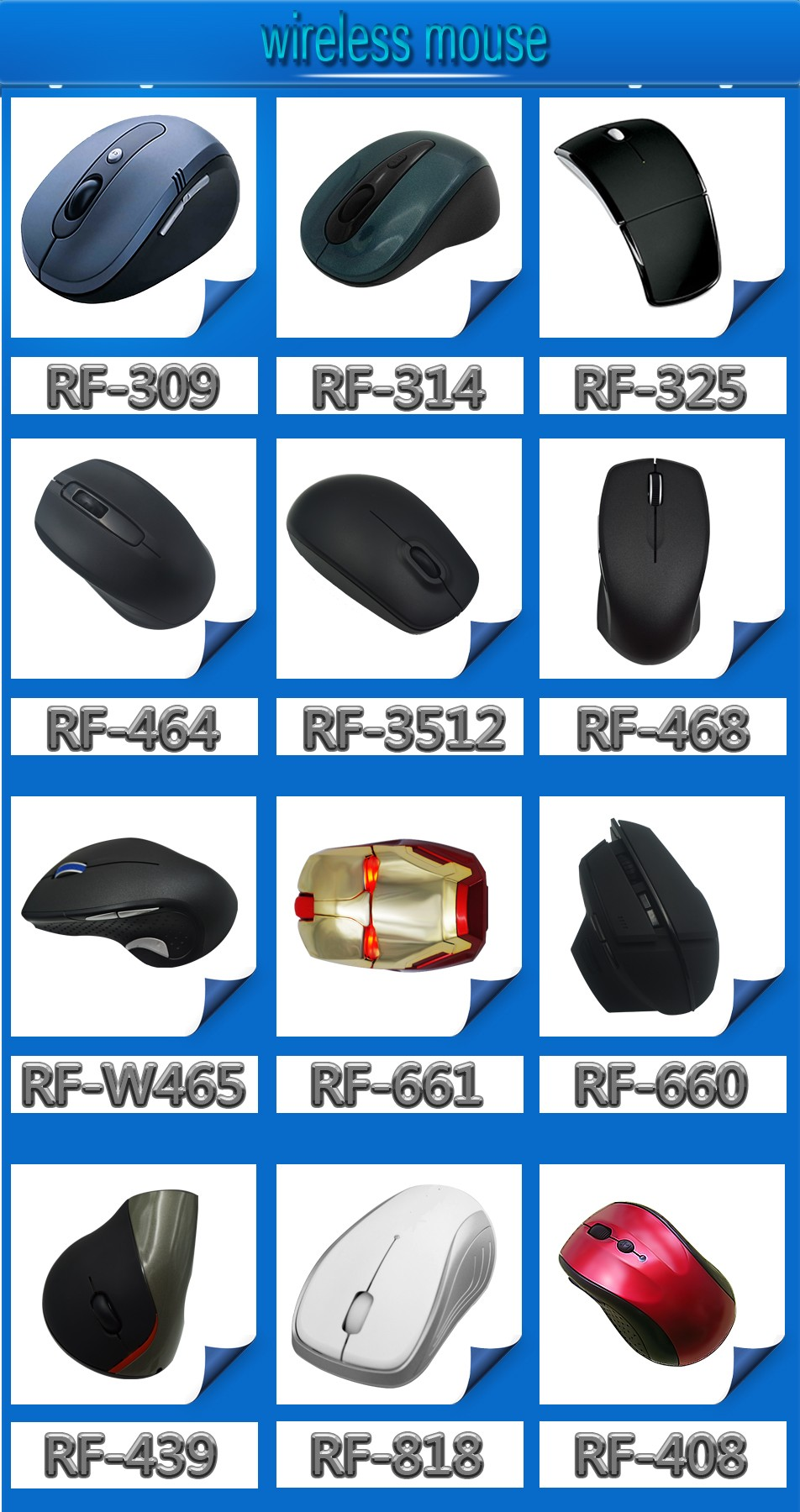 2017 optical 3d 2.4g wireless mouse