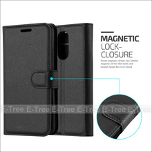 Lichee Wallet PU Leather Phone Case Back Cover With Card Slots For LG K8 2017