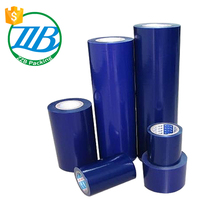 high quality dongguan packaging materials clear blue plastic film