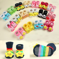 3D Animal Shaped Design Cotton Sock New born baby socks With Rubber Bottom Soles for 1-9 months Baby Boy Girls Anti-Slip Socks