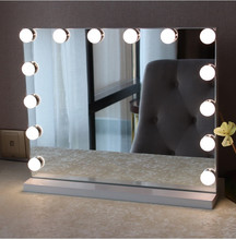 2018 alibaba express china gold suppliers frameless led hollywood mirror with 12pcs light bulbs Wall mirror, desk makeup mirror
