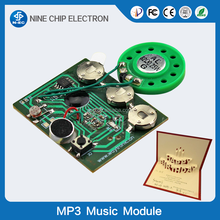 Pre-recorded voice module/sound chips for greeting card