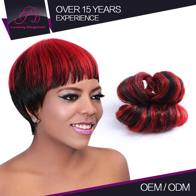 100% Full Cuticle Short Cheap Colored Two Tone Peruvian Hair Weave