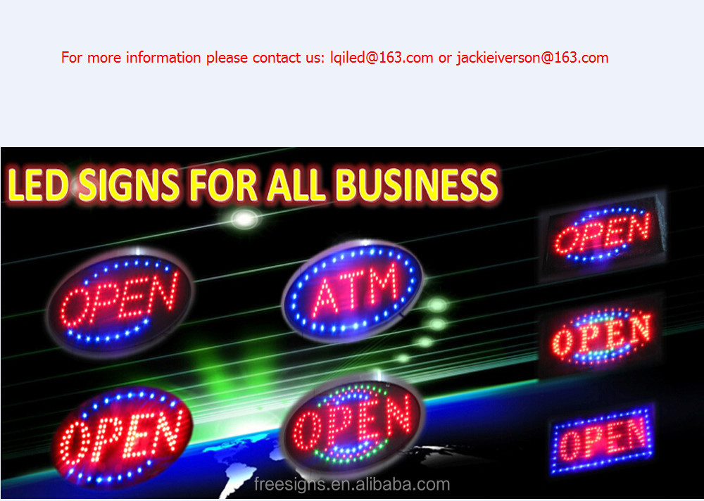 LED ATM SIGN oval / LED atm SIGN board for bank,LED OPEN SIGNS for all business