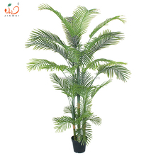 New arrival good quality indoor plastic tree leaves artificial palm tree