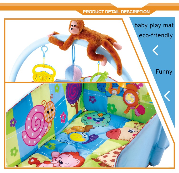 Newest Children Toys Funny Monkey Activity Gym Yard Baby Play Mat