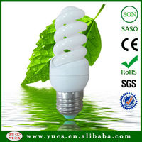 fluorescent tube protection high lumen 3.5T 9W full spiral energy saving lamp from china