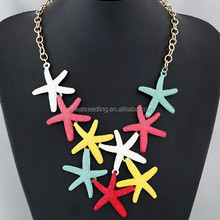 2015 Trendy fashion alloy star necklace