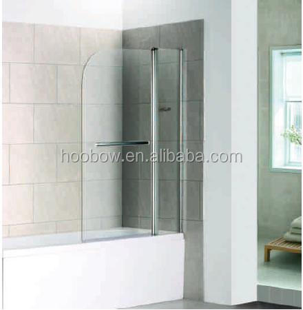 One glass Framelss pivot hot selling portable bathtub shower screen