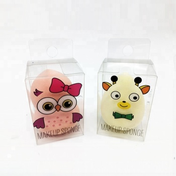 Shenzhen Custom Printing Makeup Sponge Packaging Box Cosmetic Beauty Puff PET Plastic Packaging Box Thin Rectangular Clear Box