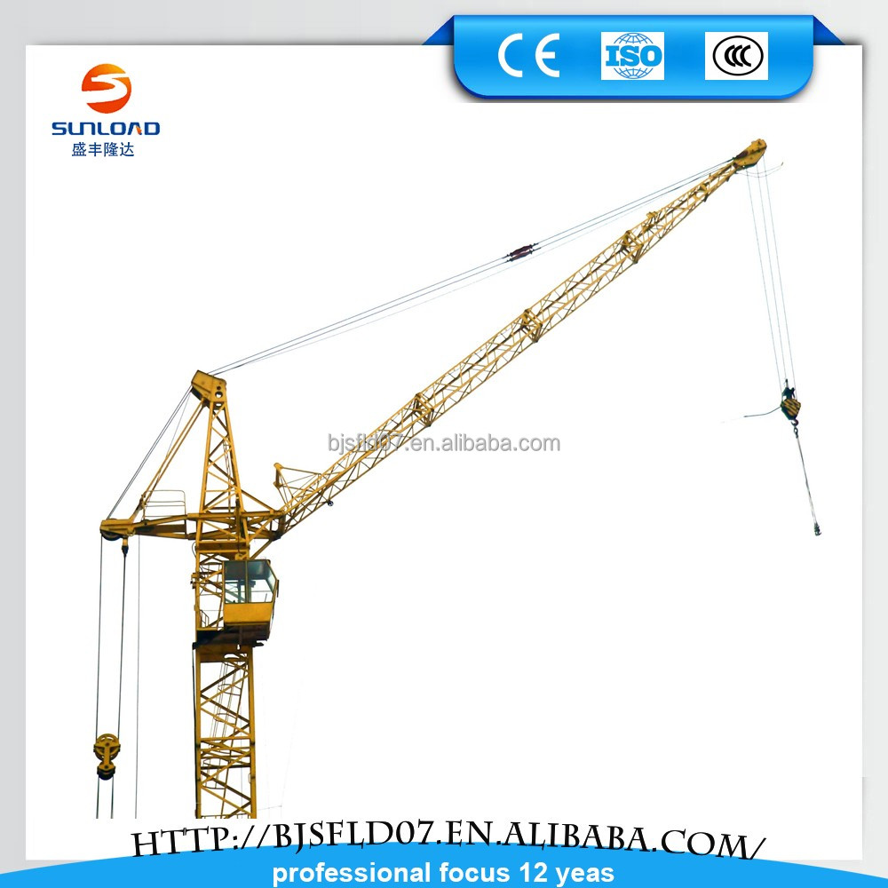 Hot Sale !!!QTZ Series 5210 6T Hammer Head tower crane 60 meter plc control tower crane