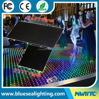 Wedding acrylic panels star light up video starlit portable led dance floor
